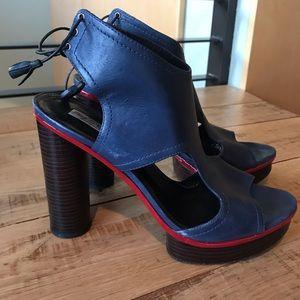 Pour La Victoire Size10 Blue Platforms